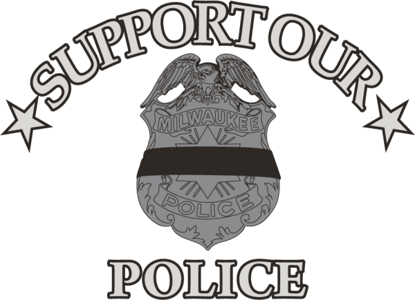support our police, dunns sporting goods, west allis