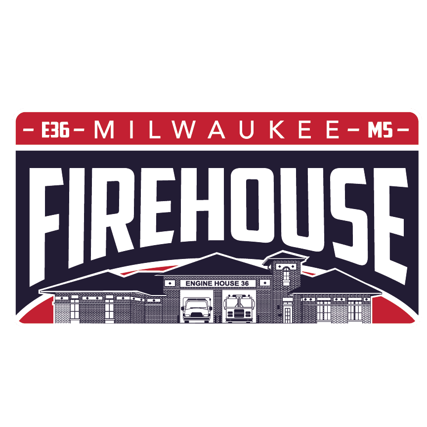 milwaukee fire department apparel, engine 36, dunn's sporting goods