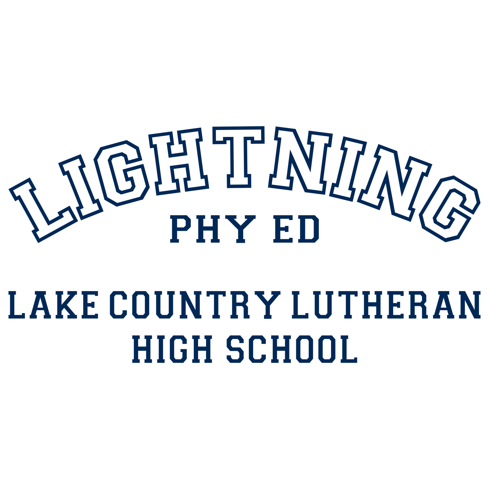 lightning phy ed, lake country lutheran lightning, dunns sporting goods, Lake Country Lutheran Phy Ed Apparel