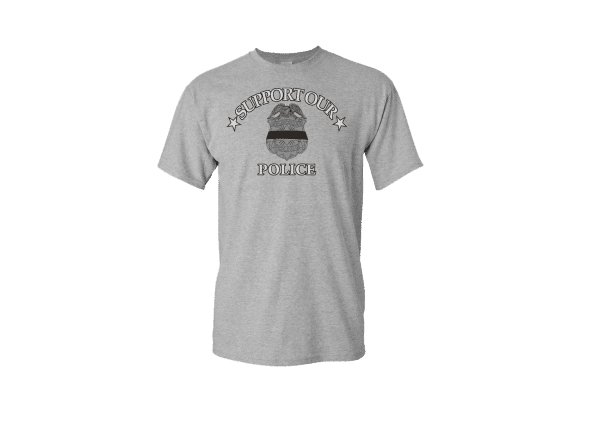support our police t shirt, dunns sporting goods, west allis